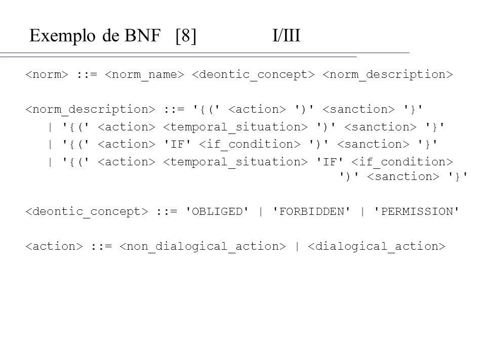 Exemplo de BNF [8] I/III